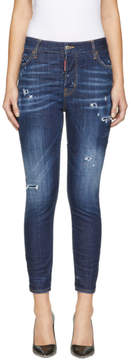 DSQUARED2 Indigo Sprinkle Wash London Jeans