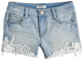 Mudd Girls 7-16 & Plus Size Lace Hem Shortie Jean Shorts