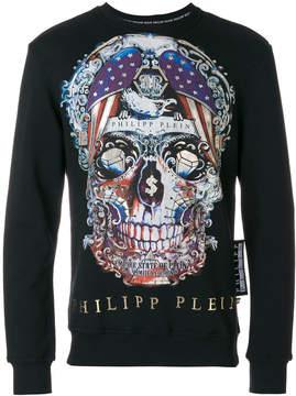 Philipp Plein multicoloured skull print sweatshirt