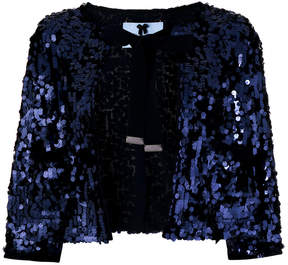 Blumarine sequinned shawl jacket