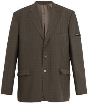Balenciaga Prince of Wales-checked single-breasted blazer