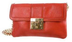 Tory Burch Leather Crossbody Bag - ORANGE - STYLE