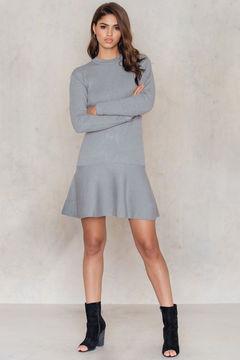 NA-KD Knitted Flounce Dress