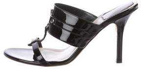 Christian Dior Patent Leather Slide Sandals