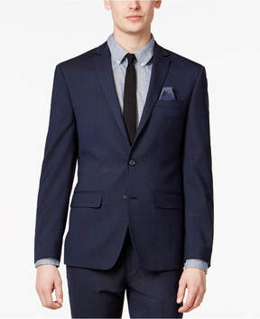 Bar III Men's Extra-Slim Fit Stretch Wrinkle-Resistant Blue/Black Check Suit Jacket, Created for Macy's