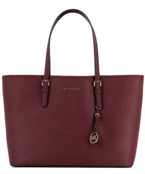 Michael Kors Bordeaux Leather Shoulder Bag - RED - STYLE