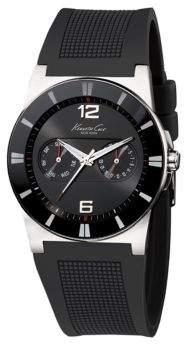 Kenneth Cole Mens Wide Black-Band Watch