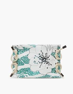 Marni Satelite Printed Clutch in Emerald