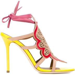 Malone Souliers 'Eva 3' strappy laser cut sandals