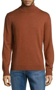 Black & Brown Black Brown Long Sleeve Merino Wool Turtleneck Sweater