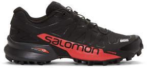 Salomon Black and Red S-Lab Speedcross Sneakers