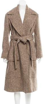 Celine Long Tweed Coat