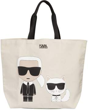 Karl Lagerfeld K/Ikonik Cotton Canvas Tote Bag