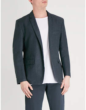 BOSS ORANGE Regular-fit cotton and linen-blend jacket