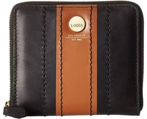 Lodis Rodeo Stripe RFID Amaya Zip French Wallet Wallet Handbags