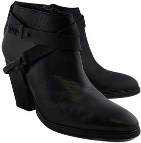 Dolce Vita Black Stacked Booties w/ Spur