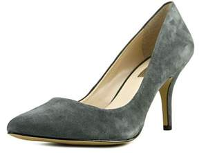 INC International Concepts Zitah Women Pointed Toe Suede Gray Heels.