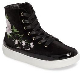 Sam Edelman Girl's Harriet Danielle Embroidered High Top Sneaker