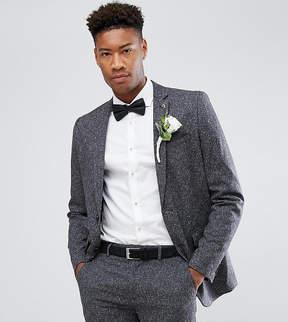 Farah Smart TALL Skinny Wedding Suit Jacket In Fleck