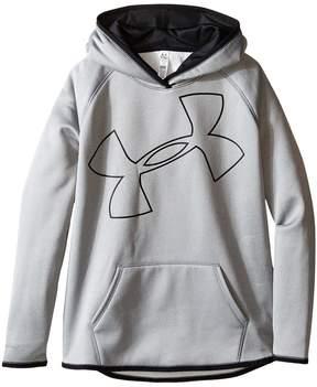 Under Armour Kids Storm Armour Fleece Big Logo Hoodie Girl's Sweatshirt