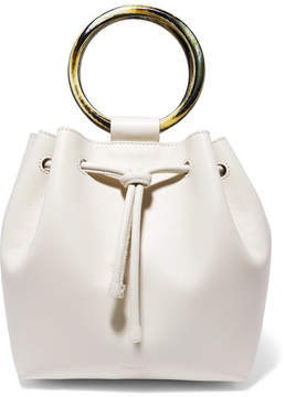 Theory Drawstring Leather Tote - Cream