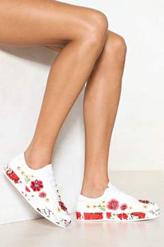 Nasty Gal Bud Out of It Floral Sneaker