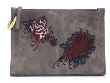 A.L.C. Floral Leather Pouch
