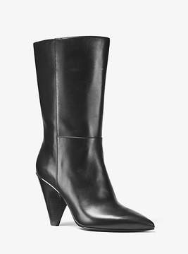 Michael Kors Lizzy Leather Mid-Calf Boot