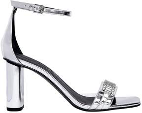 KENDALL + KYLIE 80mm Lake Mirror Leather Sandals