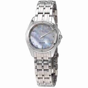 Citizen Prezia Mother Of Pearl Diamond Dial Ladies Steel Watch EM0350-58D
