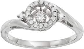 Brilliance+ Brilliance In Motion Brilliance in Motion 1/5 Carat T.W. Diamond Sterling Silver Halo Ring