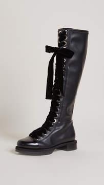 Grey Mer Greymer College Roxy Combat Boots