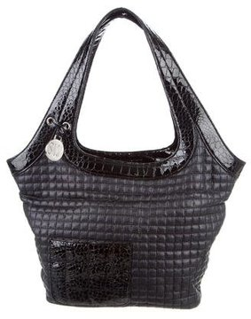 Stuart Weitzman Quilted Canvas Hobo