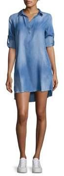 Bella Dahl Frayed Hem A-Line Dress