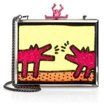 Alice + Olivia Keith Haring x Abbey Embellished Box Clutch