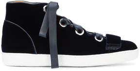 Derek Lam Velvet Serena High Top Sneaker