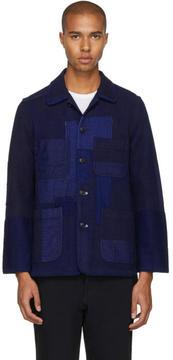 Blue Blue Japan Indigo Sashiko Patchwork Jacket