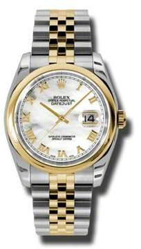 Rolex Datejust 36 Mother of Pearl Dial Stainless Steel and 18K Yellow Gold Jubilee Bracelet Automatic Men's Watch