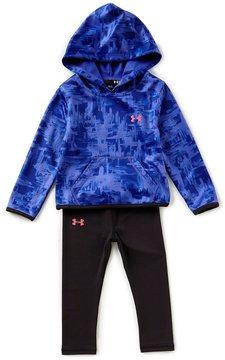 Under Armour Little Girls 2T-6X Painted Streaks Fleece Pullover Hoodie & Jersey Leggings Set