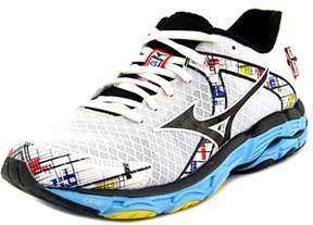 Mizuno Wave Inspire 10 Women D Round Toe Synthetic White Running Shoe.