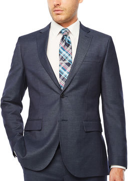 Jf J.Ferrar Geometric Slim Fit Stretch Suit Jacket-Slim