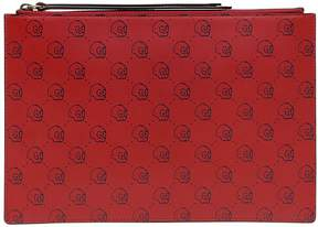 Gucci Ghost Hamlet Print Leather Clutch