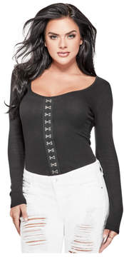 GUESS Francisca Hook-and-Eye Top