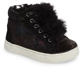 Steve Madden Toddler Girl's Brielle Faux Fur High Top Sneaker
