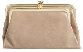 Hobo Women's Suzette Calfskin Leather Wallet - Grey
