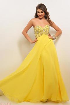 Blush Lingerie Strapless Sequined Long Dress 9587