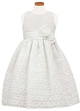 Sorbet Toddler Girl's Floral Burnout Fit & Flare Dress