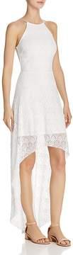Aqua High/Low Lace Maxi Dress - 100% Exclusive