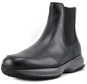Hogan Interactive Stivaletto Elastico Round Toe Leather Boot.