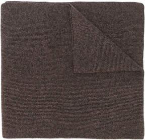 N.Peal ribbed wide scarf